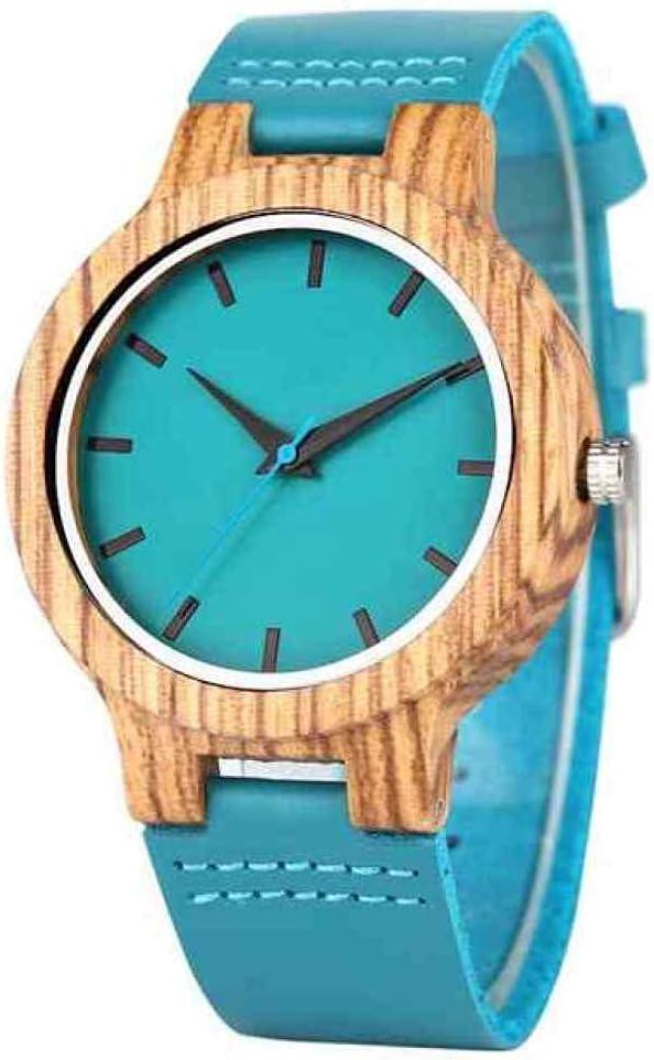 WRENDYY Wooden Watch Blue Wood Wristwatch Quartz Natural Max 63% Super sale OFF B