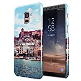 Welcome To Paradise Ibiza San Antonio Eivissa Tropical Chill Island Hard Thin Plastic Phone Case Cover For Samsung Galaxy A8 2018