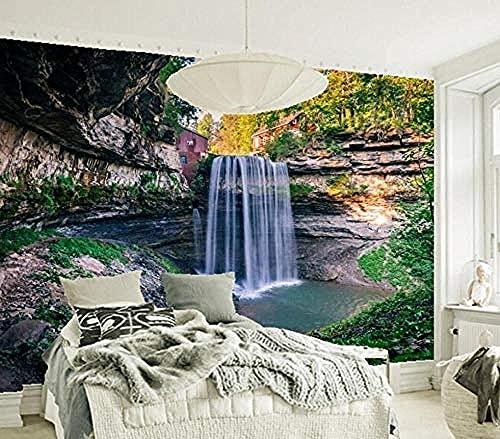 ZZXIAO Papel tapiz de paisaje Cascadas de Canadá Ontario Crag Nature S Bar Sala de estar Tv Sofá Dormitorio Murales 3D Decoración Fotomural sala Pared Pintado Papel tapiz no tejido-430cm×300cm