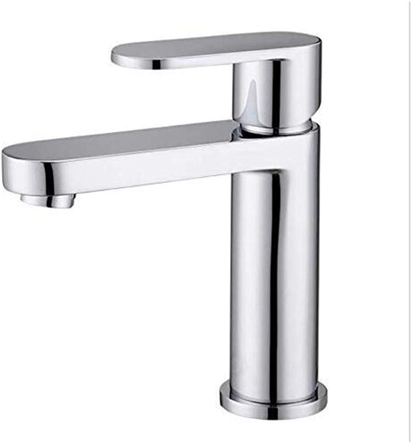 Faucet Vintage Plated Kitchen Bathroom Faucet Taps Single Hole Hot and Cold Basin Washbasin Faucet Copper Taps