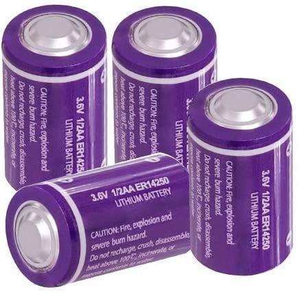 ER14250 LS14250 ER3S 1200 mAh 3,6 V, 1/2AA Li-SOCl2 pilas (4 piezas)