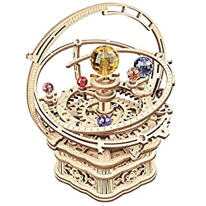 ROKR 3D Wooden Puzzles Model Kit Mechanical Music Box Starry Night from Rokr