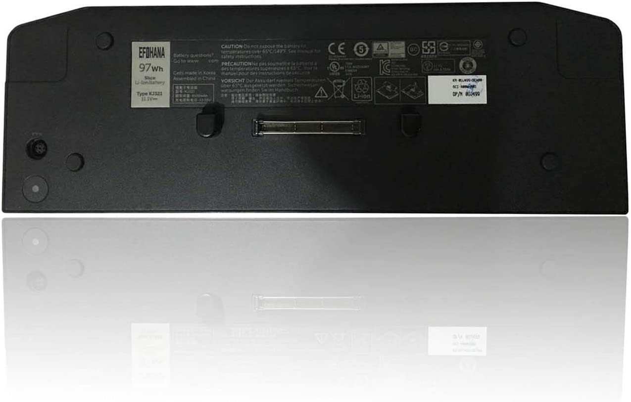 efohana KJ321 Extended Slice Battery Replacement for Dell Latitude XT3 E5420 E6220 E6320 E6420 E6420 E6440 E6520 E6540 ATG M4700 M4800 M6600 M6700 Series Notebook 312-1242 X57F1 11.1V 97Wh 8550mAh