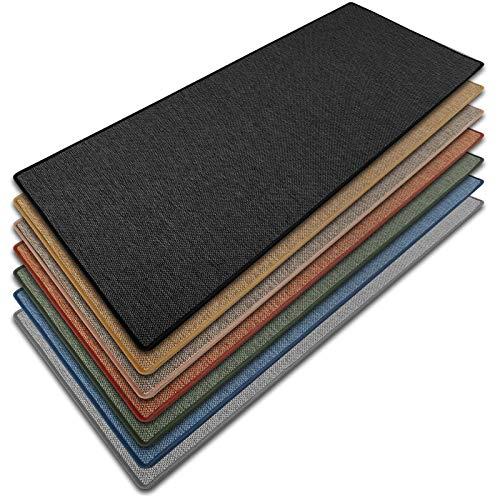 Teppich Läufer Sabang   Sisaloptik   Qualitätsprodukt aus Deutschland   GUT Siegel   kombinierbar mit Stufenmatten   viele Größen (Anthrazit, 100x200 cm) Küchenläufer Flurläufer Teppichläufer