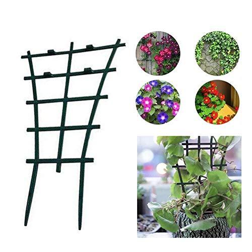 Nologo Durable Schaufel Rake Spaten, 4pcs Gemüse Topfrahmenständer Net Garten DIY Mini Cage Dekorative Tomate Blumenstützen Gurke Klettern Trellis,Leicht zu tragen