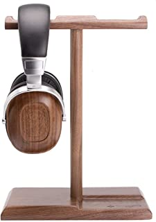 Detachable Wooden Headphone Headset Stand Double Sides Headset Display Stand Game Earphone Stand (Color : Walnut)