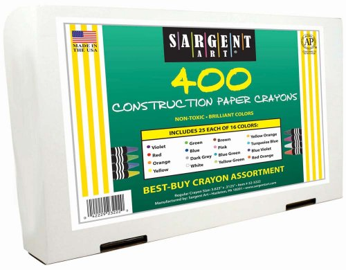 Sargent Art Construction Paper Best Buy Assorted, Standard Size, 400 Ct