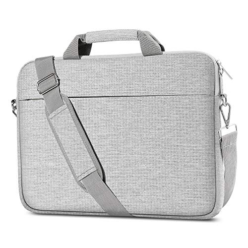 AtailorBird Laptop Bag 15.6 Inch, Waterproof Lightweight Professional Business Office Messenger Bag, Unisex Laptop Case Sleeve with Shoulder Strap & Handle for Women and Men, Grey