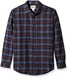 Amazon Essentials Men's Regular-Fit Long-Sleeve Plaid Flannel Shirt, Blue/Black, Large