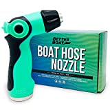 Better Boat Hose Nozzle for Use with Water Hose Garden Hose Marine Grade Washdown Spray Gu...