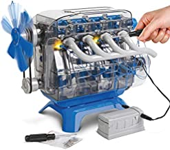 Discovery Kids DIY Toy Model Engine Kit, Mechanic Four Cycle Internal Combustion Assembly Construction, Comes W/Valves, Cylinders, Hardware & Much More, Encourages STEM Creativity/Critical Thinking