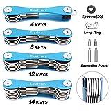 Schlüsselhalter von Kiartten verhindert ausgebeulte Taschen und kann bis zu 14 Schlüssel halten (Schwarz)