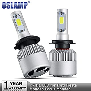 Car Headlight Bulbs(LED) - H7 Low Beam H1 High Beam COB Car LED Headlight Bulbs 72W 8000lm Auto Led Headlamp 12v for Ford Fiesta Mondeo Focus Mondeo (H7 Low Beam)