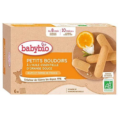 Babybio - Petits Boudoirs à l'Huile Essentielle d'Orange Douce 120 g - BIO