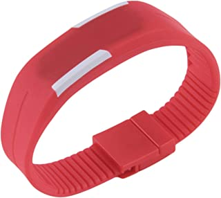 Zinniaya Fashion Unisex Mens Women Comfortable Silicone LED Watch Sports Bracelet Digital Wrist Watch with Magnetic Buckle