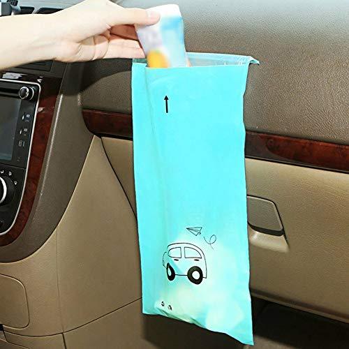 150pcs Adhesive Car Trash Bag, One-time Creative Storage Hanging Car Trash Can, Suitable for Car Home, School, Office Car Trash Bag (Color : Blue)