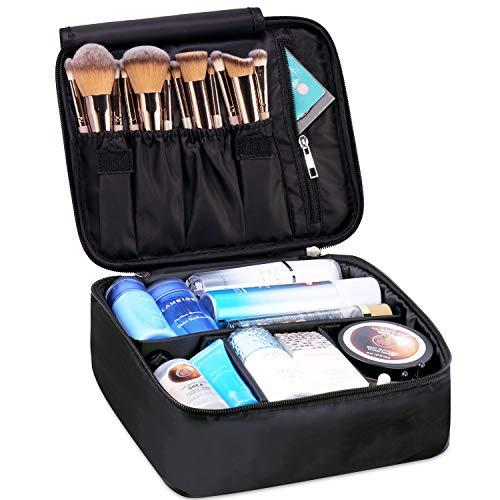 Reise Kosmetiktasche Große Make-up-Tasche Schminktasche Kosmetiktasch Organizer für Damen und Mädchen (Schwarz)