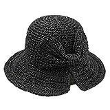 OYSOHE Damen Bogen Sonnenhut mit breiter Krempe Weiche Faltbar Stroh Hüte Fischers Strandhut Outddor