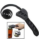 Standard Clé à sangle réglable, bracelet en caoutchouc clés universel multifonctions en caoutchouc Clé avec poignée solide...