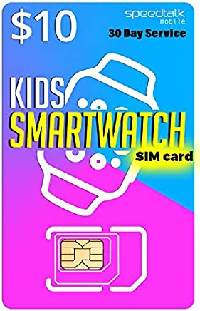 Amazon.com: Padfender $10 SIM Card for Kids Smart Watches ...