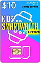 Padfender $10 SIM Card for Kids Smart Watches and Wearables - Unlimited Text - 30 Day Service