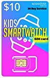 $10 SIM Card for Kids Smart Watches and Wearables - 30 Day Service- USA Canada Mexico Roaming