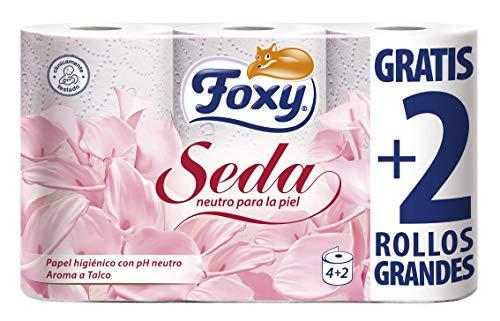 Foxy Seda Papel Higiénico con pH Neutro - 6 Rollos