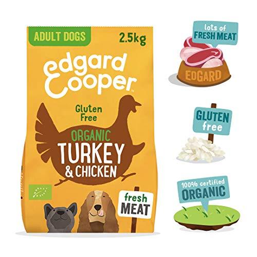 Edgard & Cooper Bio-Trockenfutter für ausgewachsene Hunde, 2,5 kg, Truthahn und Huhn, glutenfrei, gesund und hochwertiges Protein