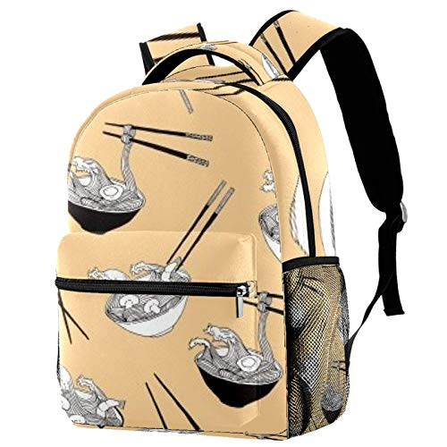 Tableware Soup Backpack School Bag Bookbag Hiking Travel Rucksack