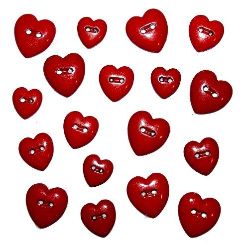 Knöpfe-Set RED HEARTS