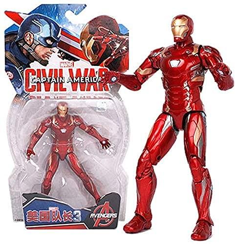 juguete Juguetes - juguetes - juguetes DC - Avengers 3/4 Conjunto desmontable - Spiderman / Superman / Panther / Hombre de hierro / Capitán América Colección Adornos Regalo de cumpleaños (Colo