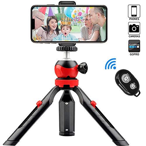 Handy Stativ, Mini Tripod Kamera Stativ Dreibein Ständer Halter für iPhone/DLSR/Beamer/Webcam und Smartphone