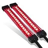 2pc 5' Red LED Motorcycle Turn Signal & Brake Tail Light Strip Kit [IP68 Waterproof] [Single Row] [50% Running Light] [100% Brake/Turn Signals] Flexible Tail Light Strip for Motorcycle Trailer ATV