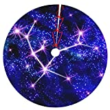 Christmas Tree Skirt Christmas Tree Mat Waterproof 48 Inches Chirstmas Decorations for Festive Holiday Party Xmas Ornaments for Indoor and Livingroom Multicolor Thicker