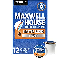 Maxwell House Master Blend Coffee Light Roast K-Cup Pods (12 Count)