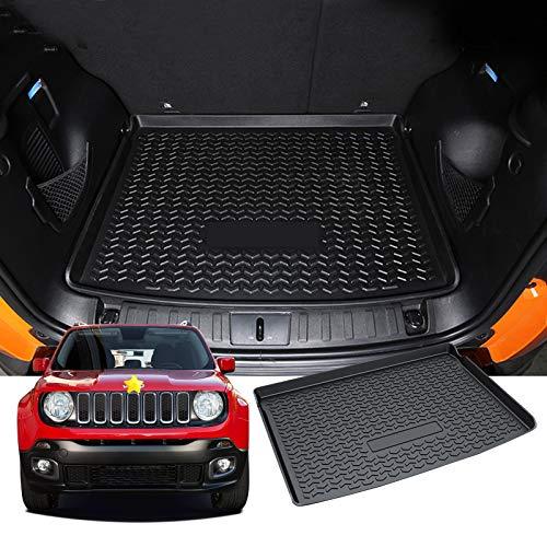 SHAOHAO für Jeep Renegade BU 2015-2021 Kofferraummatte, Kofferraum mit Kofferraummatte TPO 3D High Frame Autoteile ausgekleidet