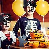 Herefun Piratenzubehör Set, 40 Stück Piraten Party Mitgebsel Kinder Piratenkapitän, Piraten Augenklappe, Ring, Bandana, Augenmaske, Schnurrbart, Schlüsselanhänger, Geeignet für Karneval, Halloween - 6