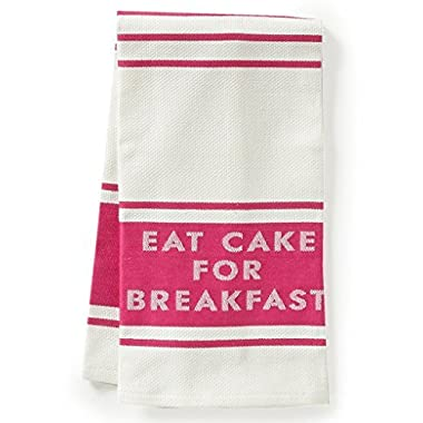 Kate Spade All in Good Taste Eat Cake for Breakfast Set of 2 Dish Towels