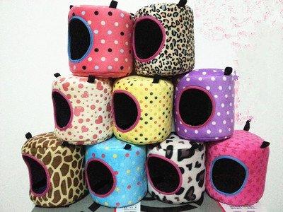 Fhouses Hängematte, Nest, Haus, Haustier, Ratten, Hamster, Papageien, Eichhörnchen, Spielzeug, 16 x 16 cm, zufällige Farbe