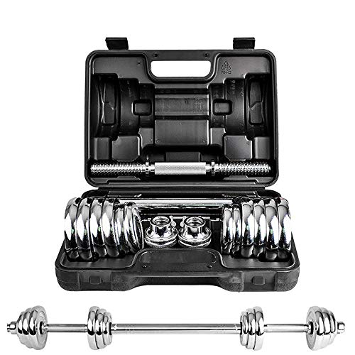 Gegalvaniseerde halter 15 Kg 20 Kg 30 Kg Gegalvaniseerde halterset, fitnessapparatuur voor heren, met geschenkdoos, verstelbare halter/halter, gewichtsverlies, vormgeven