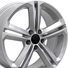 Partsynergy Replacement For 18'' Rim Fits 2005-2017 VW Jetta - VW18 Silver 18x8 Aluminum Wheel