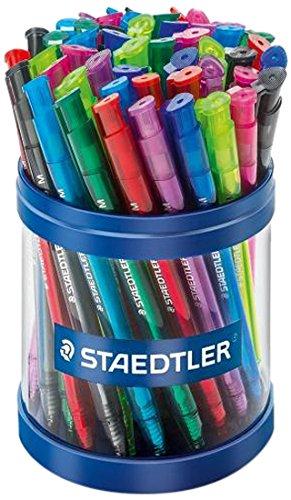 STAEDTLER 42335MKP50 Druckkugelschreiber Linienbreite M, 0.45 mm, Schaft in Schreibfarbe, 50 Stück in Köcherpackung