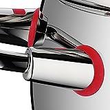WMF Quality One Topfset Induktion 5-teilig, Kochtopf Set mit Glasdeckel, Cromargan Edelstahl poliert, Induktions Töpfe Set unbeschichtet, Dampföffnung - 10