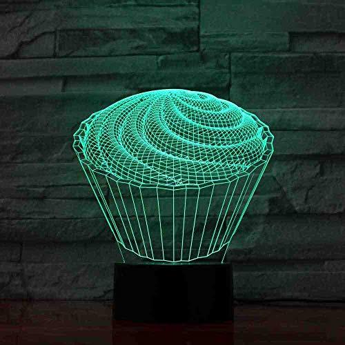CDBAMX 7 Coloré Bébé Chambre À Coucher Décor 3D Led La Spirale Cake Lampe De Table Enfants Jouets Cadeaux Veilleuses Veilleuse Au Dessert Dessert Luminaires