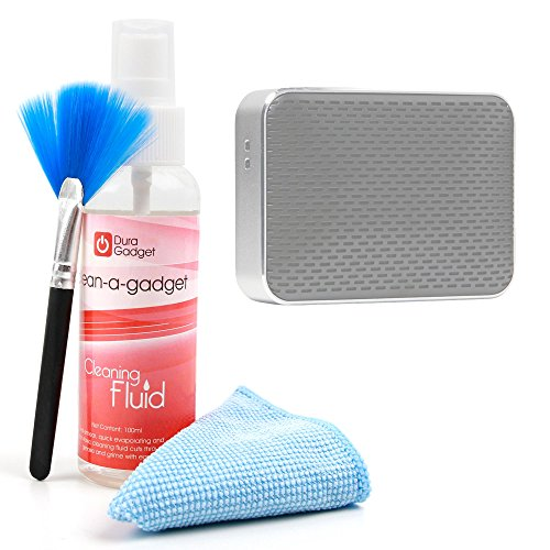 DURAGADGET Kit para Limpiar Su Altavoces Essentielb Too Soft XL, Essentielb Too Soft XS, Essentielb Too Soft - Limpiador + Paño De Microfibra + Brocha - con Fórmula Especial Anti Manchas