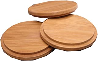Pack of 4 Bamboo Cup Cover Wooden Cup Lid Coffee Mug Cup Lid Wooden Tea Glass Cup Cover Drink Cup Lid Set
