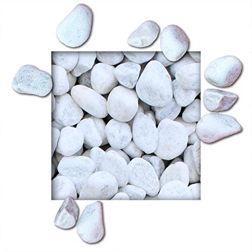 25 kg Marmorkies Carrara Weiss Körnung 40/60 mm direkt vom KiesKönig®