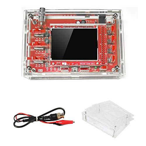 """DSO 138 Oscilloscope Kit Open Source with Probe 2.4"""" TFT 1Msps Digital Oscilloscope Kit with DSO 138 Case + Probe 13803K for Electronic Learning Set"""