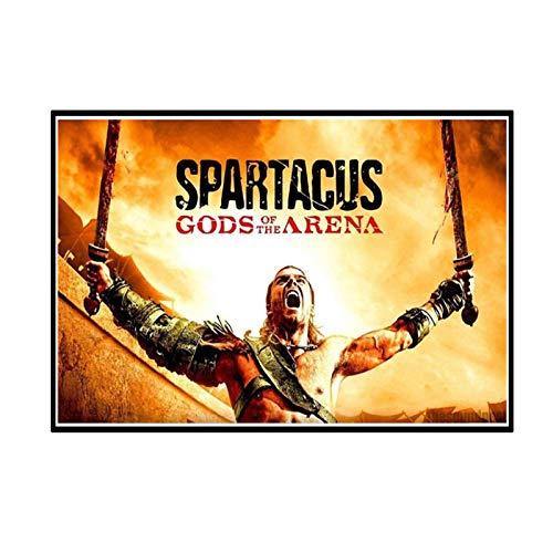 ADNHWAN Spartacus American Television Series 2 Cartel de Arte de Pared Pintura impresión Sala de Estar decoración del hogar regalo-50X80cm sin Marco 1 Uds