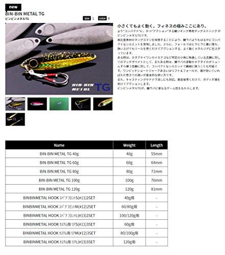 JACKALL(ジャッカル)メタルジグビンビンメタルTG80g桜吹雪(黒金).